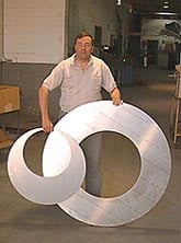 Picture of large metal parts made with Water Jet Cutting Services, View Water Jet Cutting Applications